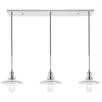 Living District LD4040D41C Waltz 3 Light 9 inch Chrome Pendant Ceiling Light
