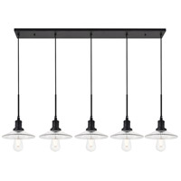 Living District LD4040D48BK Waltz 5 Light 9 inch Black Pendant Ceiling Light