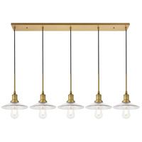 Living District LD4040D48BR Waltz 5 Light 9 inch Brass Pendant Ceiling Light