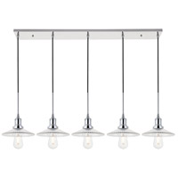 Living District LD4040D48C Waltz 5 Light 9 inch Chrome Pendant Ceiling Light