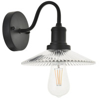Living District LD4040W8BK Waltz 1 Light 8 inch Black Wall Sconce Wall Light alternative photo thumbnail