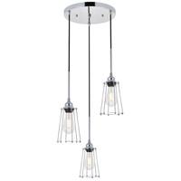 Living District LD4047D16C Auspice 3 Light 16 inch Chrome Pendant Ceiling Light