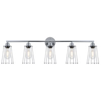 Living District LD4047W42C Auspice 5 Light 42 inch Chrome Wall Sconce Wall Light
