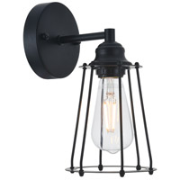Living District LD4047W5BK Auspice 1 Light 5 inch Black Wall Sconce Wall Light