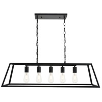 Living District LD4061D38BK Resolute 5 Light 11 inch Black Pendant Ceiling Light