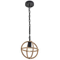 Living District LD4067D8BK Octavia 1 Light 8 inch Black Pendant Ceiling Light