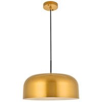 Living District LD4074D16SG Etude 1 Light 17 inch Satin Gold Pendant Ceiling Light