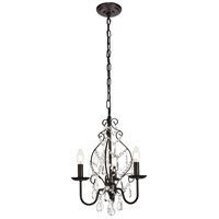 Living District LD5003D15ORB Blaise 3 Light 15 inch Oil Rubbed Bronze Pendant Ceiling Light