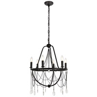 Living District LD5005D21DB Brinley 6 Light 21 inch Dark Bronze Chandelier Ceiling Light