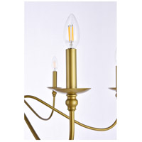 Living District LD5006D36BR Rohan 6 Light 36 inch Brass Chandelier Ceiling Light alternative photo thumbnail