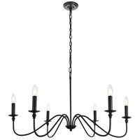 Rohan 6 Light 36 inch Matte Black Chandelier Ceiling Light