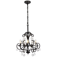 Living District LD5008D20DB Reign 5 Light 20 inch Dark Bronze Pendant Ceiling Light