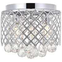 Living District LD5010F10C Tully 3 Light 10 inch Chrome Flush Mount Ceiling Light