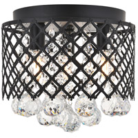 Living District LD5010F10MB Tully 3 Light 10 inch Matte Black Flush Mount Ceiling Light