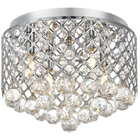 Tully 4 Light 14 inch Chrome Flush Mount Ceiling Light