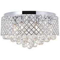 Living District LD5010F18C Tully 6 Light 18 inch Chrome Flush Mount Ceiling Light