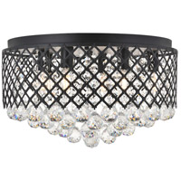 Living District LD5010F18MB Tully 6 Light 18 inch Matte Black Flush Mount Ceiling Light