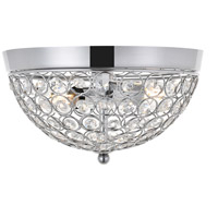Living District LD5012F10C Taye 2 Light 10 inch Chrome Flush Mount Ceiling Light