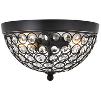 Living District LD5012F10MB Taye 2 Light 10 inch Matte Black Flush Mount Ceiling Light
