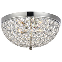 Living District LD5012F13C Taye 3 Light 14 inch Chrome Flush Mount Ceiling Light