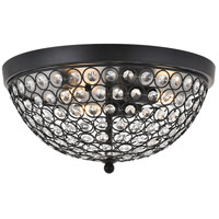 Living District LD5012F13MB Taye 3 Light 14 inch Matte Black Flush Mount Ceiling Light