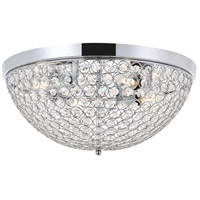 Living District LD5012F18C Taye 4 Light 18 inch Chrome Flush Mount Ceiling Light