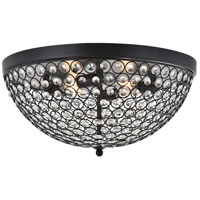 Living District LD5012F18MB Taye 4 Light 18 inch Matte Black Flush Mount Ceiling Light