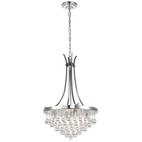 Living District LD5014D17C Kai 4 Light 18 inch Chrome Pendant Ceiling Light