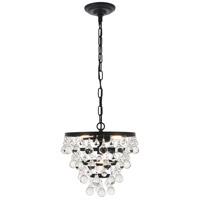 Living District LD5016D13BK Kora 3 Light 13 inch Black Pendant Ceiling Light