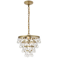 Living District LD5016D13BR Kora 3 Light 13 inch Brass Pendant Ceiling Light