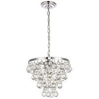 Living District LD5016D13C Kora 3 Light 13 inch Chrome Pendant Ceiling Light