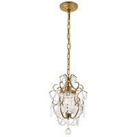 Living District LD5017D11BR Kirin 1 Light 11 inch brass Pendant Ceiling Light