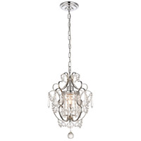 Kirin 1 Light 11 inch Chrome Pendant Ceiling Light