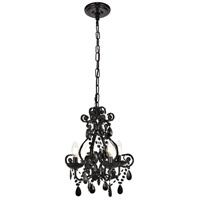 Living District LD5018D12BK Kato 4 Light 13 inch Polished Black Pendant Ceiling Light