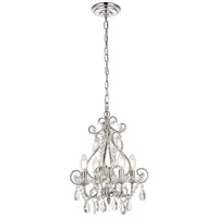 Living District LD5018D12C Kato 4 Light 13 inch Chrome Pendant Ceiling Light