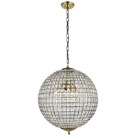 Living District LD5027 Earlene 4 Light 20 inch Antique Bronze and Clear Pendant Ceiling Light