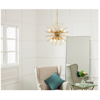 Living District LD5036D20BR Timber 8 Light 20 inch Brass Pendant Ceiling Light alternative photo thumbnail