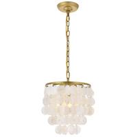 Living District LD5050D10BR Selene 1 Light 10 inch Brass Pendant Ceiling Light