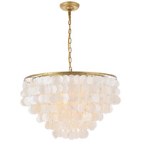 Living District LD5050D24BR Selene 6 Light 26 inch Brass Pendant Ceiling Light