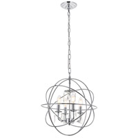 Living District LD5055D16C Wallace 4 Light 16 inch Chrome Pendant Ceiling Light