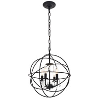 Living District LD5055D16MB Wallace 4 Light 16 inch Matte Black Pendant Ceiling Light