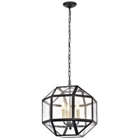 Living District LD6001D14BK Caro 3 Light 14 inch Black Pendant Ceiling Light