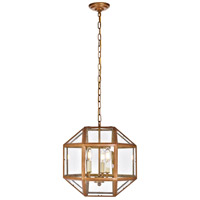 Caro 3 Light 14 inch Vintage Gold Pendant Ceiling Light