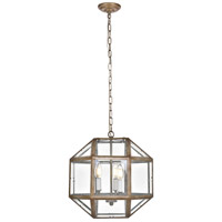 Caro 3 Light 14 inch Vintage Sliver Pendant Ceiling Light