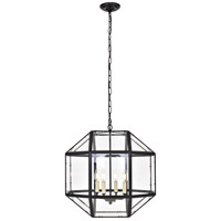 Living District LD6001D19BK Caro 4 Light 19 inch Black Pendant Ceiling Light
