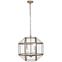 Living District LD6001D19S Caro 4 Light 19 inch Vintage Sliver Pendant Ceiling Light