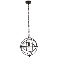 Living District LD6002D14BK Colby 1 Light 14 inch Black Pendant Ceiling Light