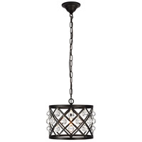 Living District LD6003D13BK Camden 1 Light 13 inch Black Pendant Ceiling Light