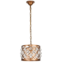 Living District LD6003D13G Camden 1 Light 13 inch Vintage Gold Pendant Ceiling Light