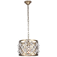 Living District LD6003D13S Camden 1 Light 13 inch Vintage Sliver Pendant Ceiling Light